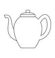 tea porcelain jar vector image vector image