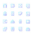textile products gradient linear icons set vector image vector image