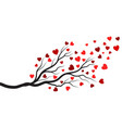 tree branch love illustration design vector image vector image