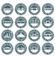 Vintage grunge labels set of Portland Oregon USA vector image