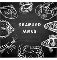 Vintage hand drawn seafood menu vector image