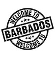 welcome to barbados black stamp vector image vector image