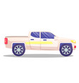 white car template on background vector image vector image