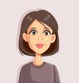 woman portrait cartoon avatar vector image vector image