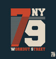 workout street t shirt print stamp vector image