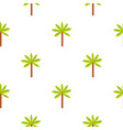 green palm tree pattern seamless vector image