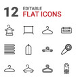 12 hanger icons vector image vector image