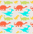 a seamless repeating pattern of dinosaurs vector image vector image