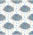 abstract clouds and raindrops vector image