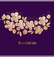 abstract sakura blossom vector image vector image