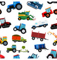 agriculture tractor machine industrial farm vector image