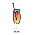 alcoholic drink cocktail beverage bar liquor vector image vector image
