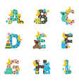 alphabet bafrom a to i vector image vector image