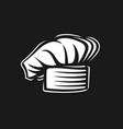 baker hat icon vector image vector image