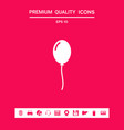balloon symbol icon graphic elements for your vector image