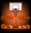 Basketball and Halloween vector image vector image