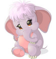 beautiful cute elephant vector image vector image