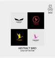 bird logo design simple minimalist vector image vector image