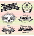 black and white set easter labels vector image