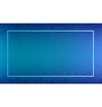 blue abstract frame design vector image vector image