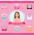 Bra and bustiers Womens clothing vector image vector image