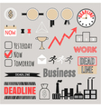 Business set frames infographic elements icons vector image vector image