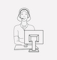 call center icon line element vector image