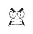 cartoon face angry emoji with gnash teeth