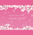 cherry blossom background 12 vector image vector image