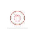 circle vintage retro apple farm cider product vector image