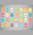 colored easter eggs on transparent background vector image vector image
