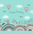 cute doodle kids background vector image vector image