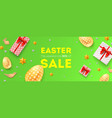 easter sale 50 percent off holiday offer huge vector image vector image