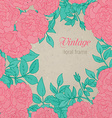 Elegant floral template with colorful hand drawn vector image