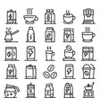 energetic drink icons set outline style vector image vector image