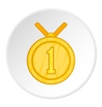First place medal icon cartoon style vector image vector image