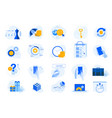 flat design concept icons collection vector image vector image