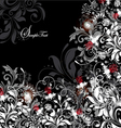Floral card with white gray and red elements vector | Price: 1 Credit (USD $1)