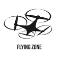 flying quadcopter drone logo vector image