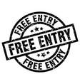 Free entry round grunge black stamp vector image