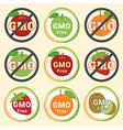 GMO Free Non GMO guarantee tag label emblem vector image