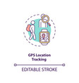 gps location tracking concept icon vector image vector image