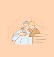 happy childhood and parenting concept vector image