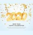 happy new year 2020 celebrating vector image