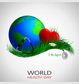 health day world vector image vector image