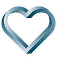 impossible twisted heart icon vector image vector image