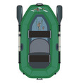 inflatable boat for waterfowl hunting vector image