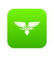 legion wing icon green vector image vector image