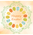 light orange background with easter eggs - easter vector image vector image