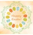 light orange background with easter eggs - easter vector image